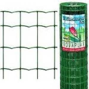 Green pvc garden fencing