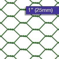 Chicken Wire PVC Coated 25mm