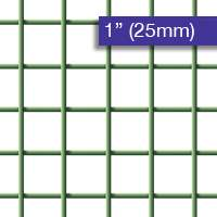 Wire Mesh PVC Coated 25mm