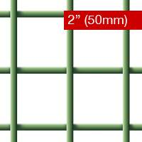 Wire Mesh PVC Coated 50mm