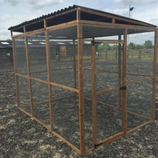 Aviary Enclosure (front) 6 feet x 6 feet x 6 feet