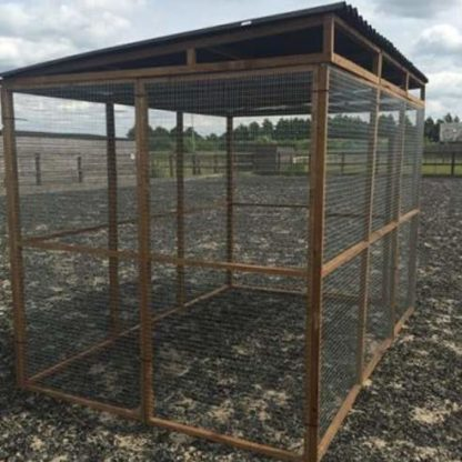 Aviary Enclosure (back) 6 feet x 6 feet x 6 feet